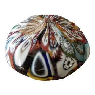 Millefiori Glass Paper Weight Murano