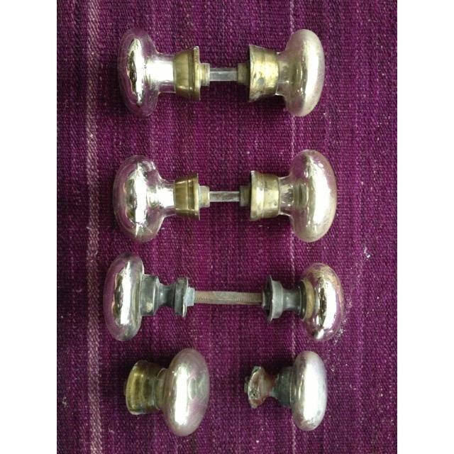 Mercury Glass Door Knobs - 4 Sets For Sale - Image 11 of 11