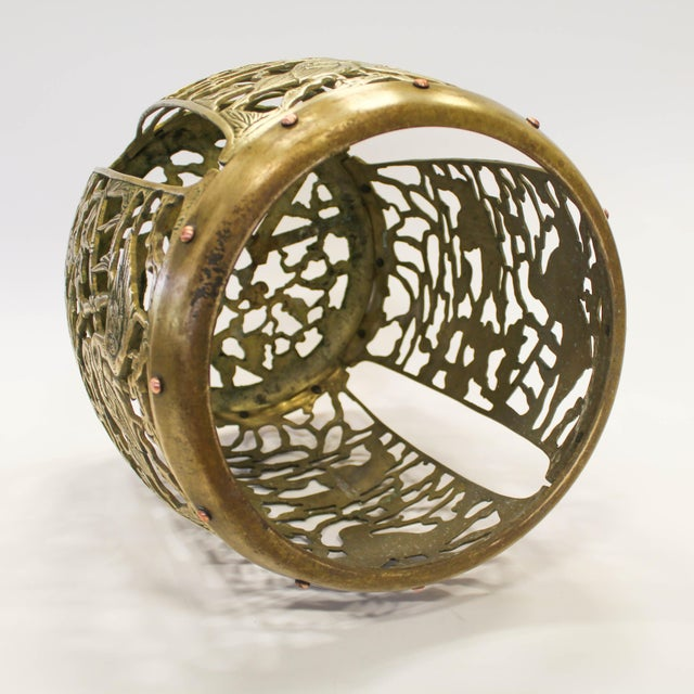 Asian Brass Chinosiere Garden Stool - Image 8 of 9