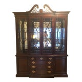 Image of Chippendale Style Breakfront China Cabinet For Sale