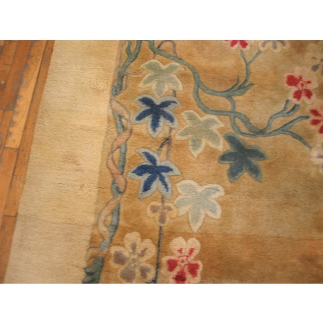1930s Antique Chinese Art Deco Rug For Sale - Image 5 of 8