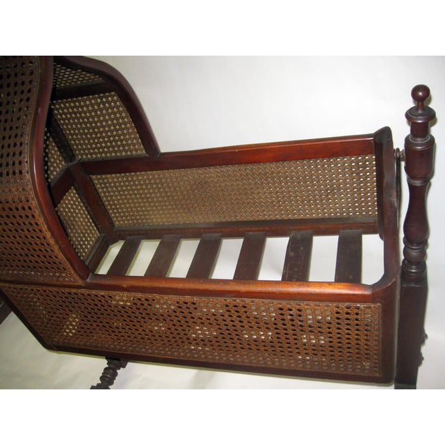 19th Century Gothic Revival Walnut Swinging Cradle For Sale - Image 11 of 13