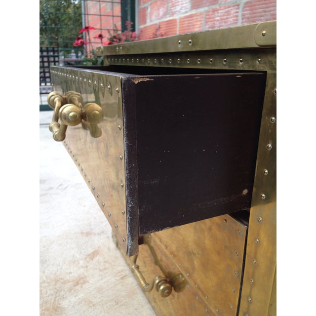 Brass Chest by Sarreid Ltd. For Sale - Image 5 of 7