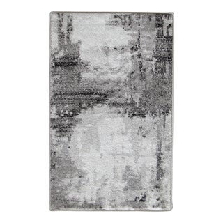 "Abstract Art Gray Doormat - 1'8"" x 2'8"""