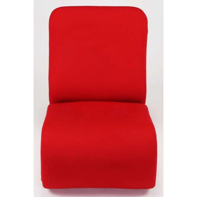 Swedish Modern Red Wool Ribbon Chair For Sale In Chicago - Image 6 of 9