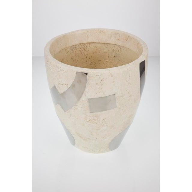 "1990s 1990s Vintage Medium Postmodern Tessellated Stone ""Et Cetera"" Planter For Sale - Image 5 of 10"