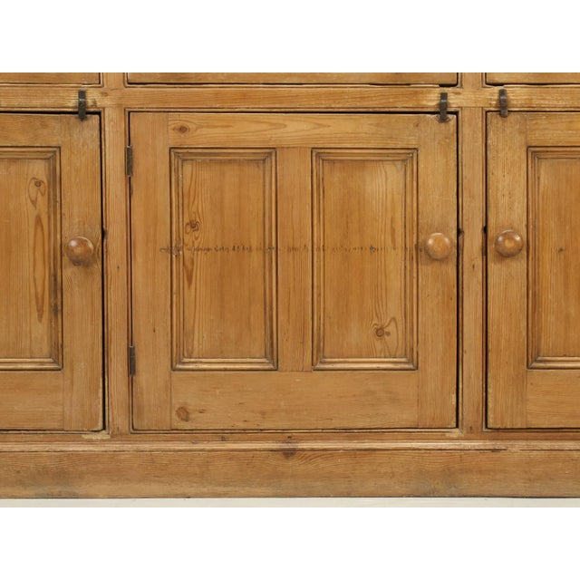 Tan Antique English Pine Buffet/Sideboard or Dresser Base Circa 1900 For Sale - Image 8 of 10