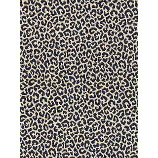Sample, Scalamandre Panthera Velvet, Indigo Fabric For Sale