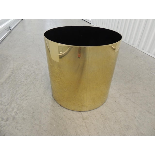 Large Mid-Century Modern Gold Color Round Planter For Sale - Image 4 of 5