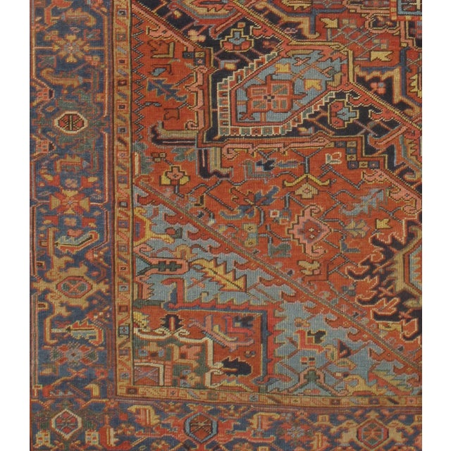Pasargad N Y Antique Persian Heriz Hand-Knotted Rug - 7′ × 9′ - Image 3 of 3
