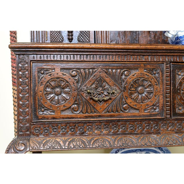 Mid 19th Century Carved oak dresser For Sale - Image 5 of 9