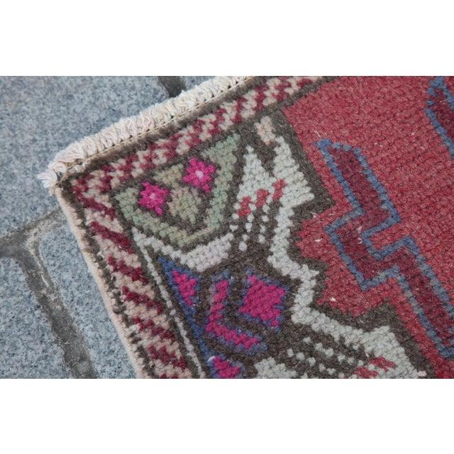 Antique Turkish Carpet - 1′6″ × 3′1″ - Image 7 of 11