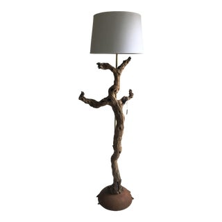 Handcrafted Grapevine Floor Lamp For Sale