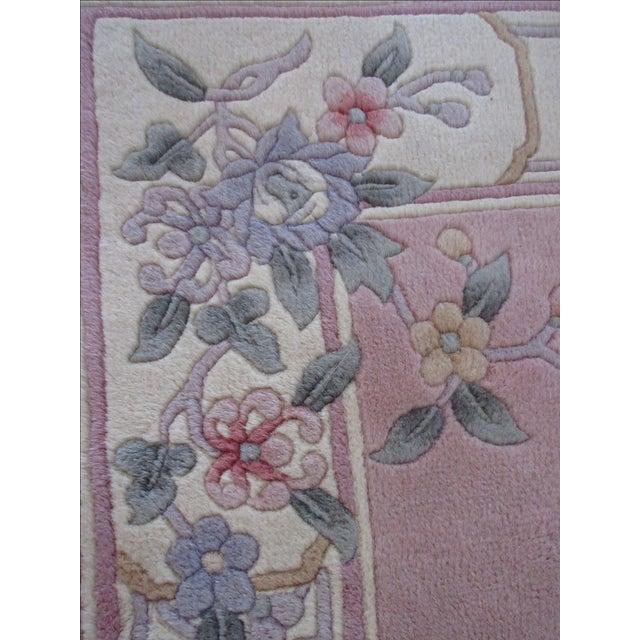Asian Pink & White Runner Rug - 3′6″ × 6′6″ - Image 8 of 10