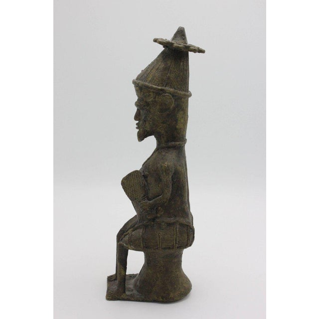 Mid 20th Century Yoruba Brass Figures for the Ogboni Cult, Nigeria - a Pair For Sale - Image 5 of 13