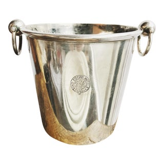 1920s Antique English Silver Ind Coope Hotel Ice Bucket For Sale