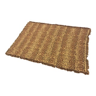Leopard Woven Cotton Throw by Ballard Designs