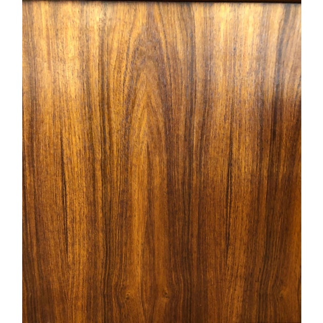 Danish Mid-Century Modern Rosewood 2 Piece Display/Credenza With Drop Leaf Bar For Sale - Image 4 of 13