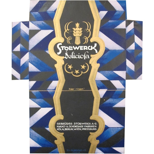 Art Deco 1927 German Mini Poster, Stollwerck Chocolate Packaging For Sale - Image 3 of 3