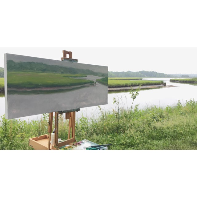 """""""Adamsville Landing"""" Contemporary Plein Air Painting by Stephen Remick For Sale - Image 12 of 13"""