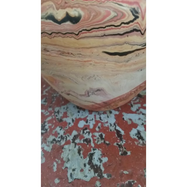 1970s Red-Orange Nemadji Vase - Image 5 of 8