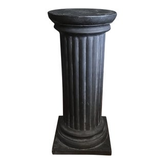 Column Style Pedestal by Hen-Feathers For Sale