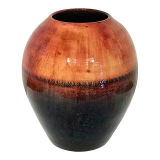 Large Midcentury Flambé Vase, by Walter Moorcroft For Sale