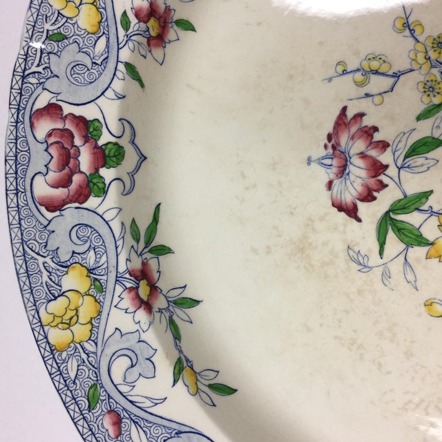 Late 19th Century Antique 1860s Minton & Co. Transfer Ware Plate For Sale - Image 5 of 7