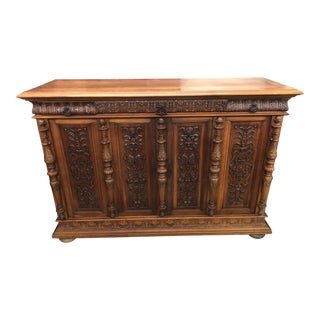 19th Century Italian Renaissance Walnut Server For Sale