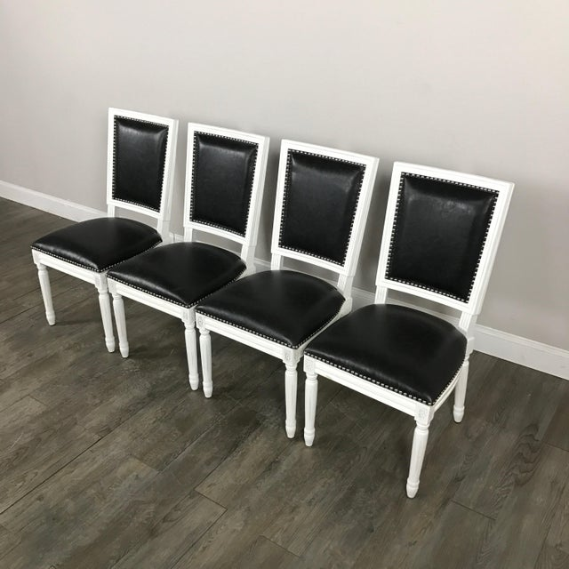 Leather Louis Dining Chairs - Set of 4 - Image 3 of 11