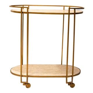 Regina Andrew Bone Bar Cart For Sale