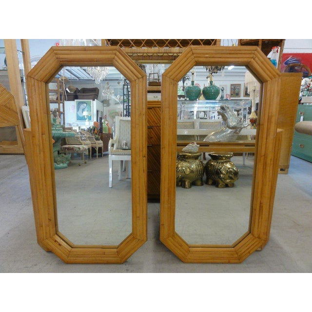 Florida Style Rattan Mirrors - A Pair - Image 6 of 6