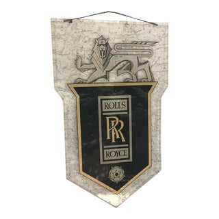 Antique Rolls Royce Hanging Sign For Sale