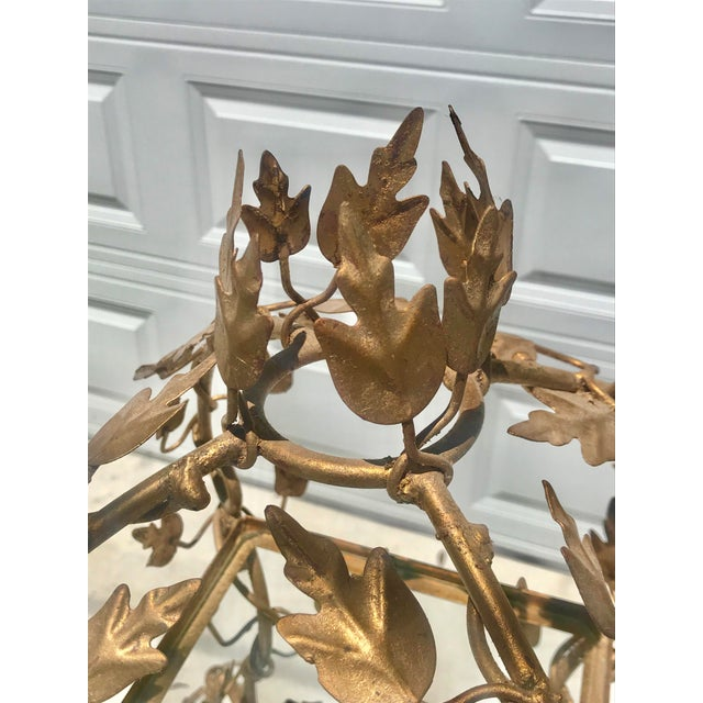 1940's French Provincial Style Italian Gold Gilt Vine Four Shelf Etagere For Sale - Image 10 of 12