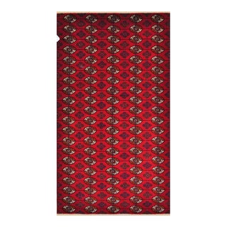 """Traditional Hand Knotted Bokhara Area Rug - 4'6"""" X 7'11"""""""