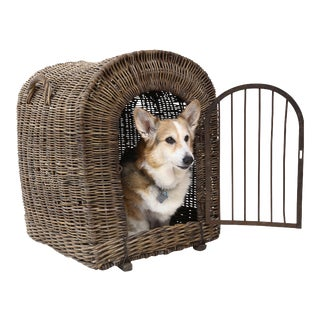 English Wicker Dog Kennel For Sale