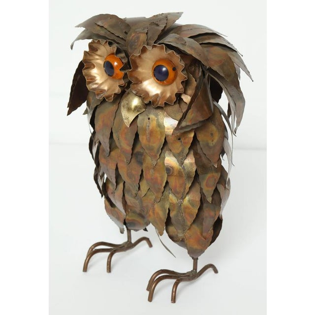 Mid-Century Modern Curtis Jere Owl Figurine For Sale - Image 3 of 7