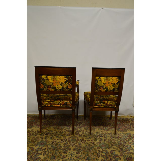 Late 20th Century French Regency Rosewood Dining Chairs - Set of 6 For Sale - Image 5 of 6