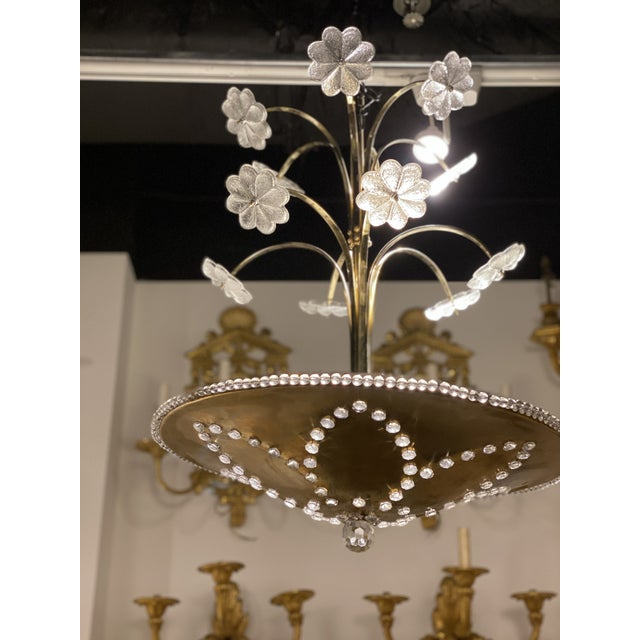 French 1930s French Bagues Light Fixture For Sale - Image 3 of 10