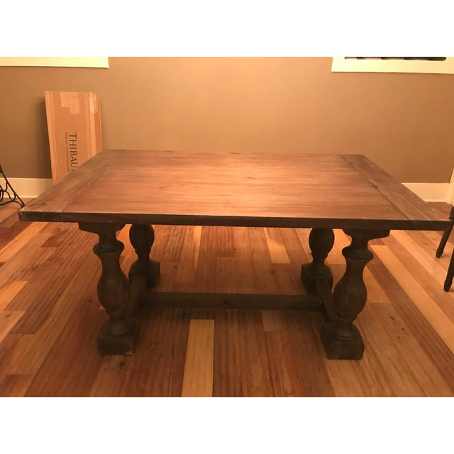 Restoration hardware 60 17th c priory rectangular dining for Table th width