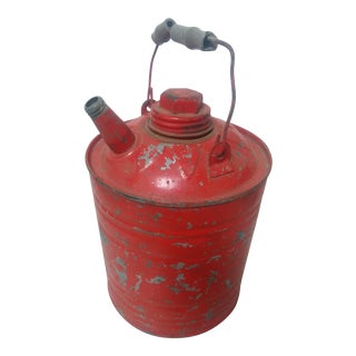 Vintage Red 1 Gallon Gas Jug For Sale