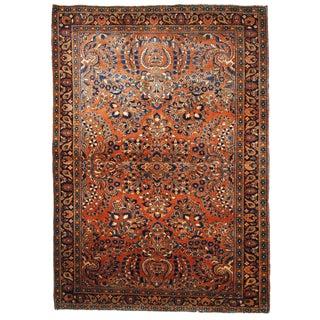 1920s, Handmade Antique Persian Sarouk Rug For Sale