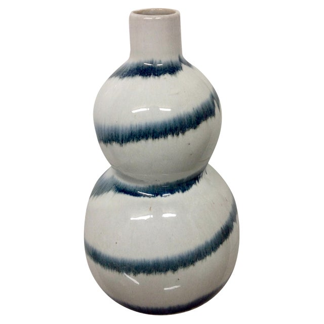 Chinese Blue & White Double Gourd Vase For Sale