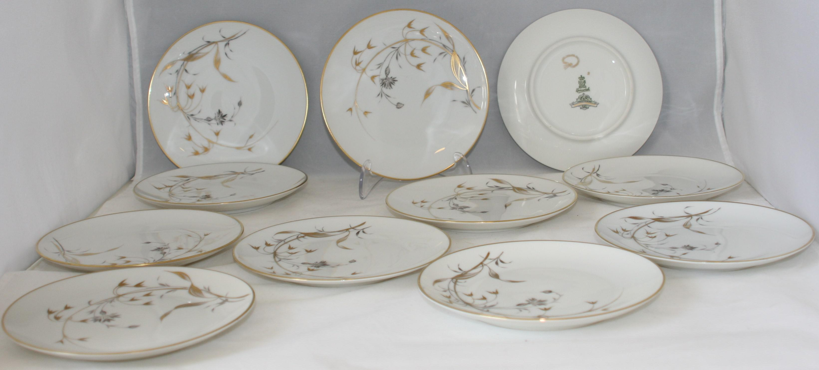 Vintage German Porcelain Heinrich u0026 Co. Golden Harvest Dessert Dishes - Set of 11 -  sc 1 st  Chairish & Vintage German Porcelain Heinrich u0026 Co. Golden Harvest Dessert ...