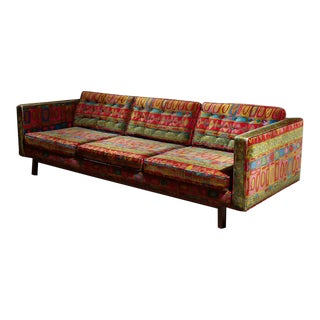 Edward Wormley Dunbar sofa with original Jack Lenor Larsen upholstery