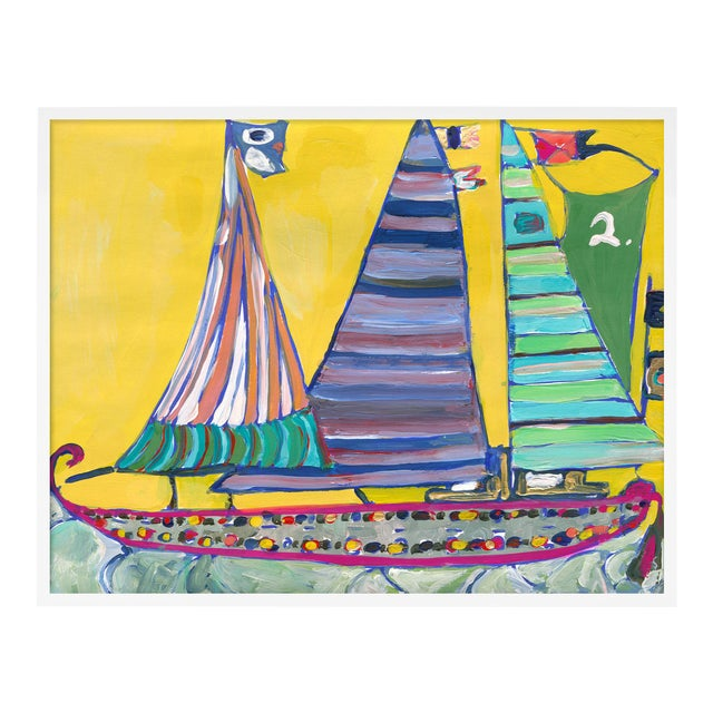 SB Bahamas by Lulu DK in White Framed Paper, Medium Art Print For Sale