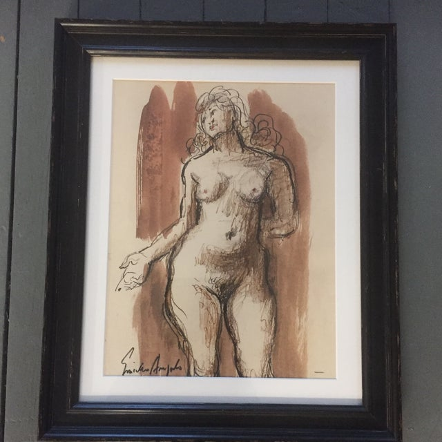 Original Vintage Female Nude Painting For Sale In Philadelphia - Image 6 of 6