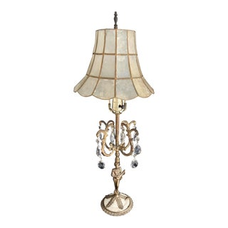 Vintage C1940s Rococo Bronze Gilt Table Lamp For Sale