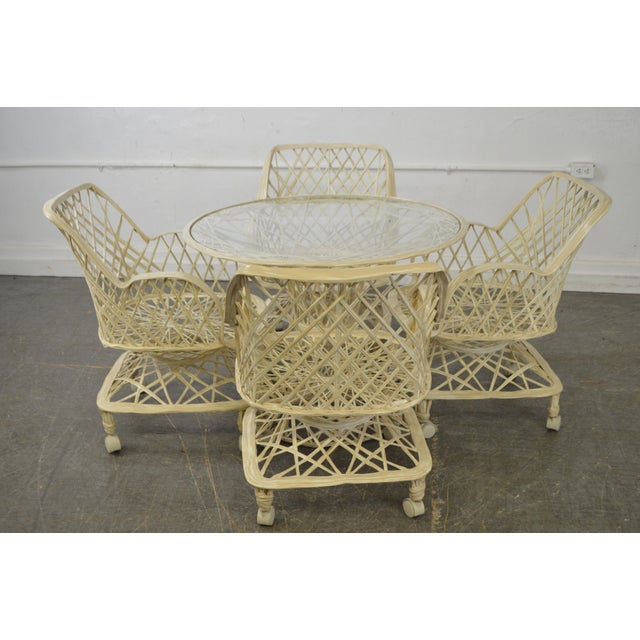 Russell Woodard Spun Fiberglass Table & Chairs - Set of 5 - Image 5 of 11