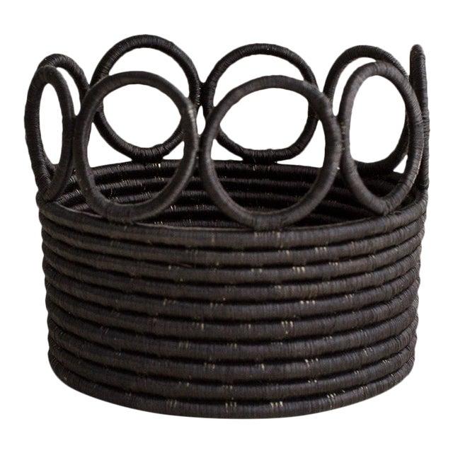 Indego Africa Handmade Ikamba Basket, Black For Sale